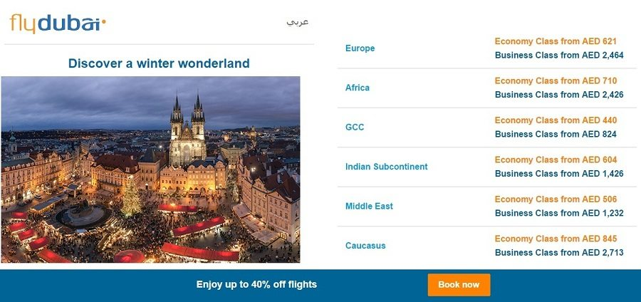 Enjoy up to 40% off of Flydubai flights - Dubaisavers