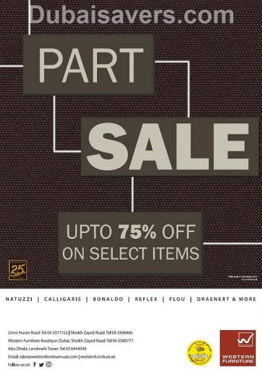 Part Sale at Western Furniture - Dubaisavers