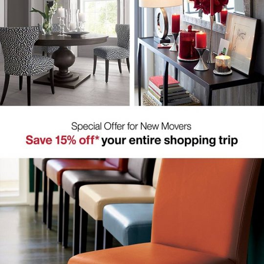 Crate&Barrel Special Offer for New Movers - Dubaisavers