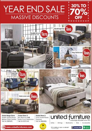 United furniture year end sale dubaisavers for Furniture year end sale 2017