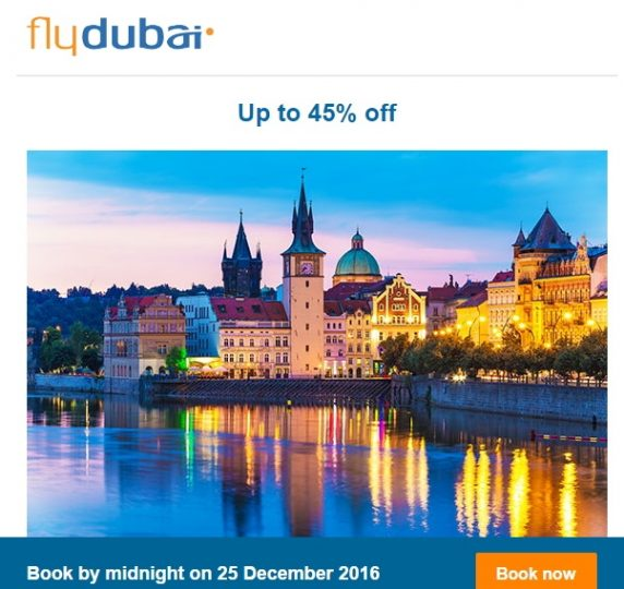 Upto 45% OFF on Flydubai! - Dubaisavers