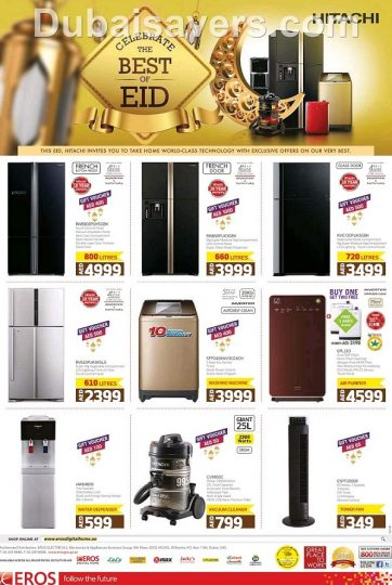 Best of Hitachi Eid Offers at Eros - Dubaisavers