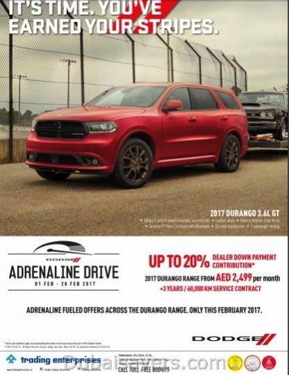 Dodge Adrenaline Fuelled Offers! - Dubaisavers