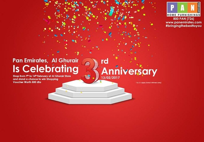 Pan Emirates 3rd Anniversary Promotion at Al Ghurair Centre - Dubaisavers