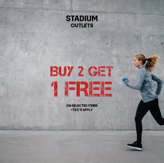 Stadium Buy 2 Get 1 Free Offer - Dubaisavers