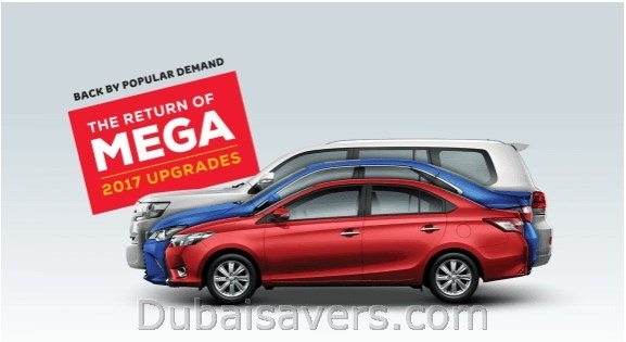 Toyota Mega Upgrade Offer is Back! - Dubaisavers