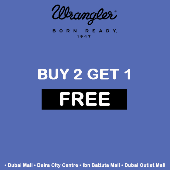 Buy 2 Get 1 Free offer at Wrangler - Dubaisavers