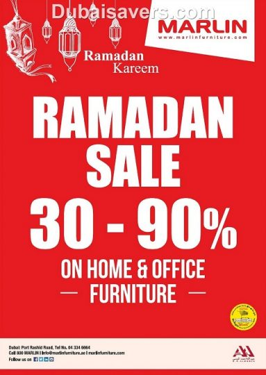Marlin Furniture Ramadan Sale - Dubaisavers