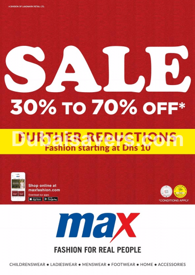 Part Sale at Max - Further Reductions are On! - Dubaisavers