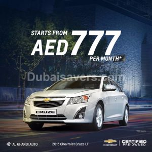 Chevrolet Cruze for only AED 777 per month - Dubaisavers