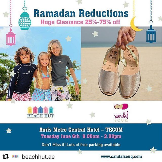 Swimwear and shoes Sale at Beach Hut & Sandal Souq - Today Only Offer ! - Dubaisavers