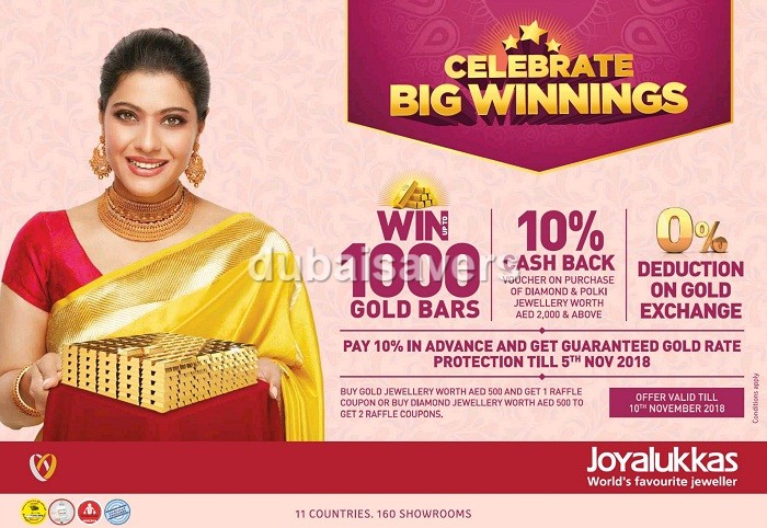 Celebrate Big Winnings at Joyalukkas - Dubaisavers