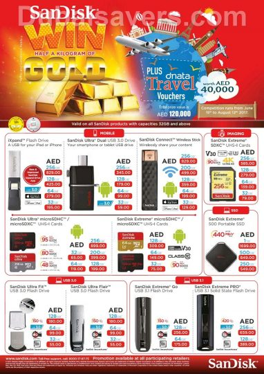 Win Half a Kilo of gold with SanDisk - Dubaisavers