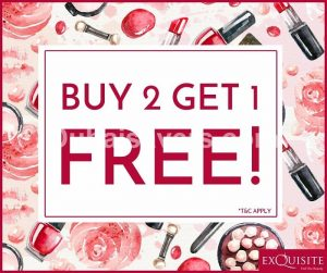 Exquisite Beauty Store Buy 2 Get 1 Free Offer - Dubaisavers