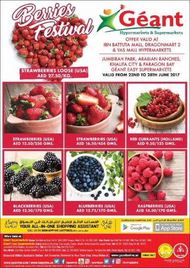 Berries Festival at Geant - Dubaisavers