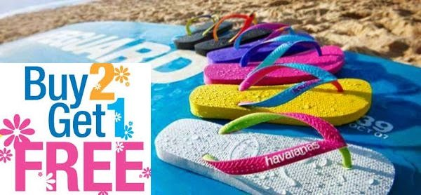 Buy 2 Get 1 Free Offer at Havaianas - Dubaisavers