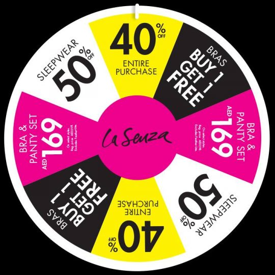 Take a Spin at La Senza and get Amazing deals - Dubaisavers
