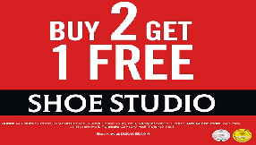 Shoe Studio Buy 2 Get 1 Free offer - Dubaisavers