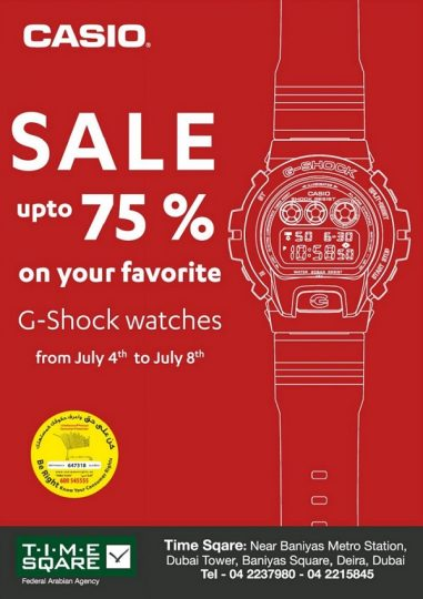 Casio Sale at Time Sqare - Dubaisavers