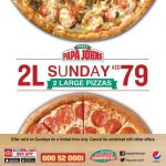 Papa John's Sunday Super Value offer - Dubaisavers