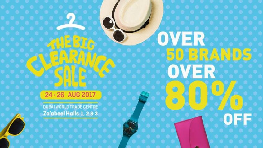 The Big Clearance Sale offers 80% off on Designer labels - Dubaisavers