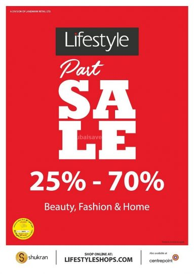 Lifestyle Part Sale - Dubaisavers