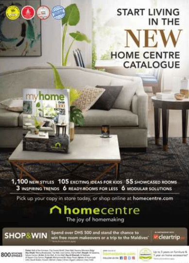 Home centre dubai shop win promotion Home center furniture in dubai