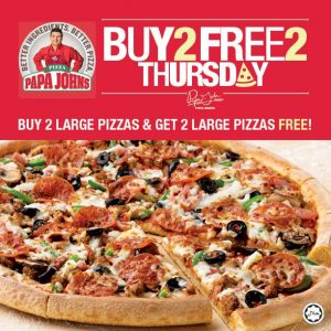Papa John's Exciting Thursday offer