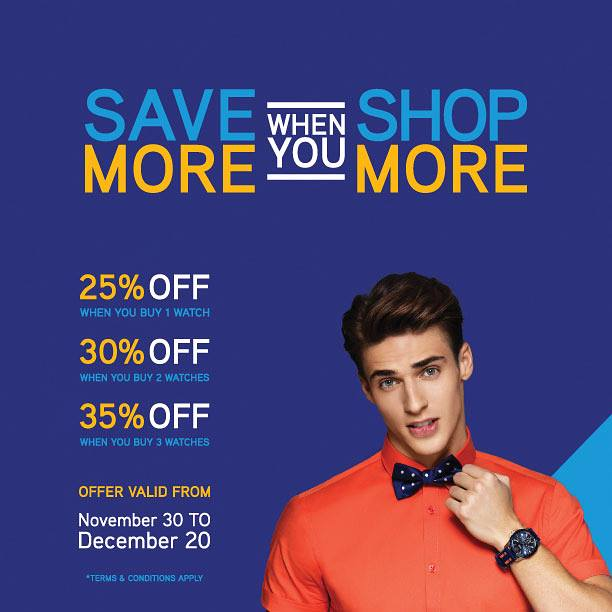 Save more when you shop more at 1915 by Seddiqi - Dubaisavers