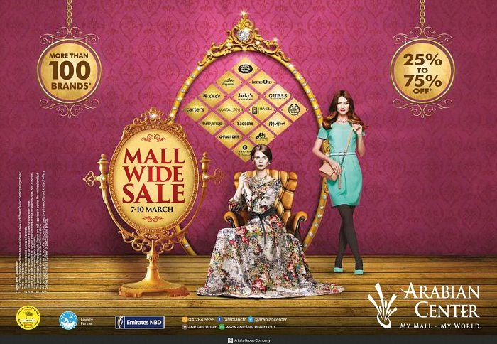 Mall Wide Sale at Arabian Centre - Dubaisavers