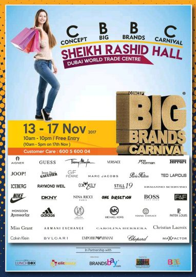 Concept Big Brands Carnival, 13th - 17th November 2017 - Dubaisavers