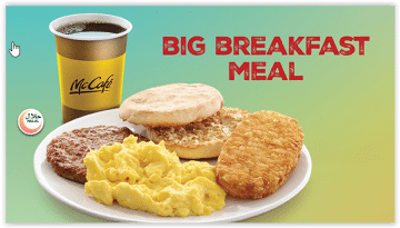 McDonald's Big breakfast meal
