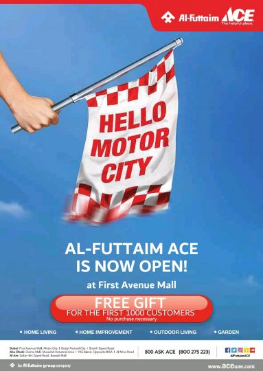 Al Futtaim ACE is now open at First Avenue Mall - Dubaisavers