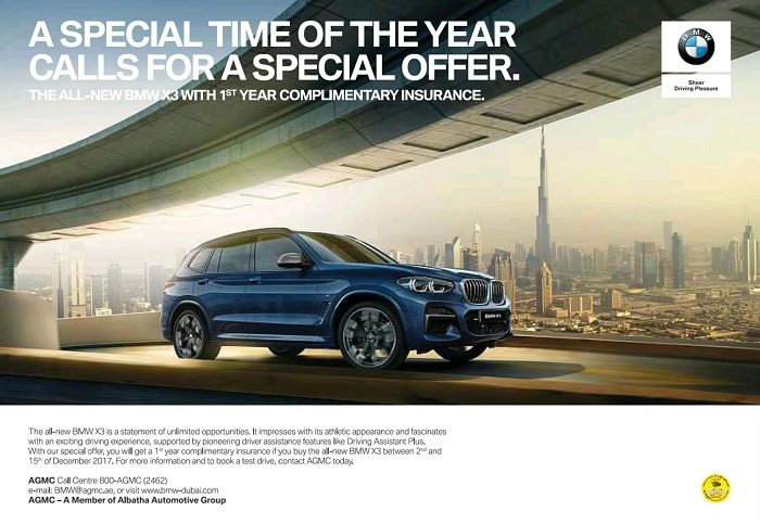 The all-new BMW X3 Special offer - Dubaisavers