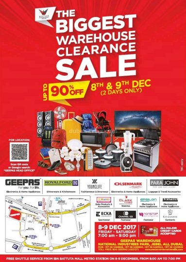 Geepas Biggest Warehouse Clearance Sale - Dubaisavers