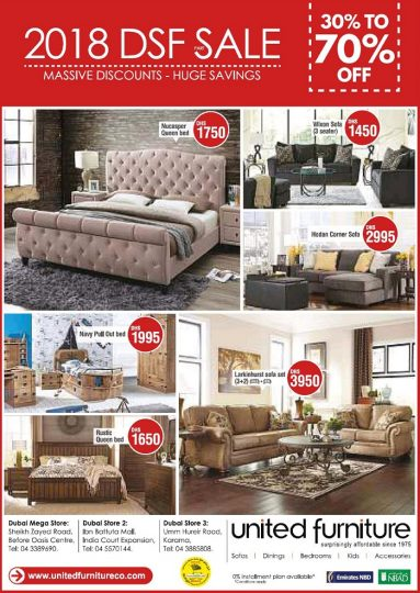 DSF sale at United Furniture - Dubaisavers