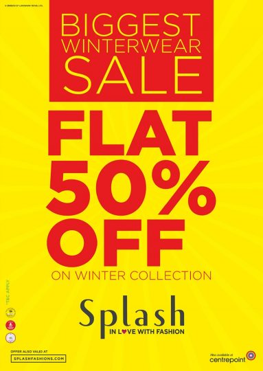 Biggest Winter Wear Sale at Splash - Dubaisavers