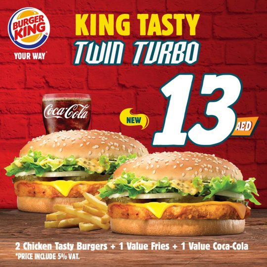 King Tasty Twin Turbo meal from Burger King - Dubaisavers