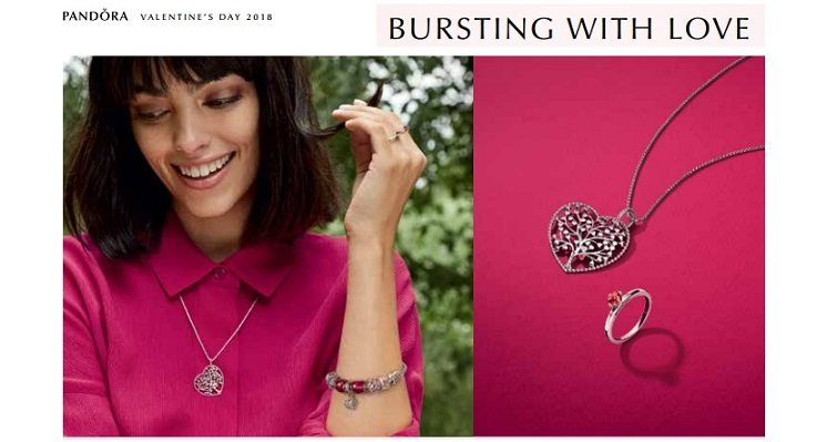 PANDORA releases 2018 Valentine's Day Explosion of Love jewellery collection - Dubaisavers