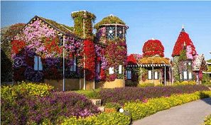 Miracle Garden and Global Village tickets including centralised transportation with Baisan Travel from AED 99