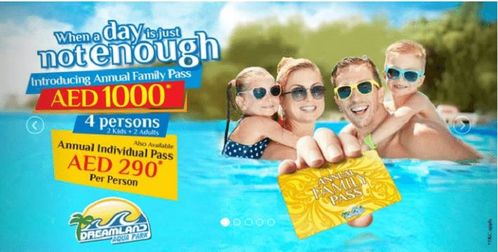 Annual Pass With Unlimited Access at Dreamland Aqua Park for a Special Rate of AED 290 - Dubaisavers