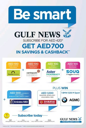 Gulf News Subscription offer - Dubaisavers