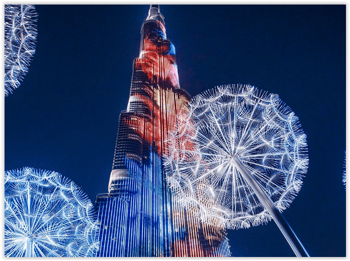 Burj Khalifa Laser and light to celebrate Chinese New Year - Dubaisavers