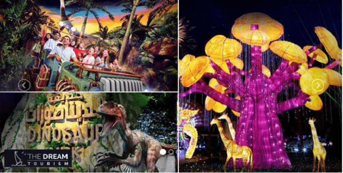 IMG Worlds of Adventure and Dubai Garden Glow with Dino Park tickets from The Dream Tourism for AED 258 - Dubaisavers