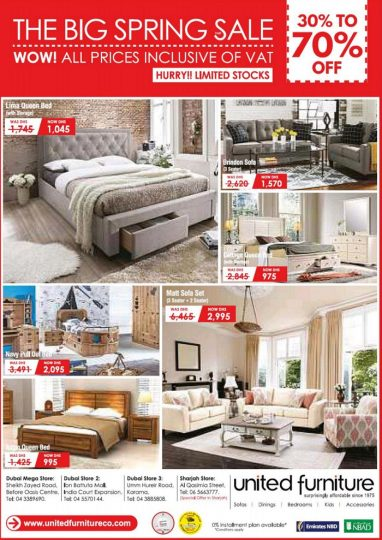The Big Spring Sale at United Furniture - Dubaisavers