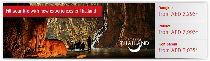Emirates Airlines Special fare offers to Thailand - Dubaisavers