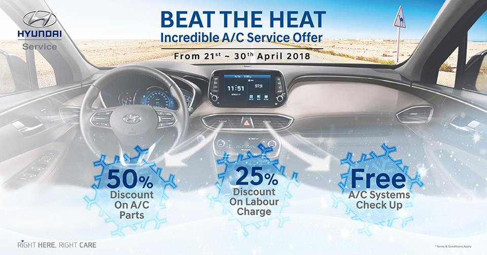 Hyundai Beat the Heat Service offer - Dubaisavers