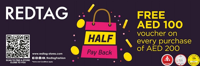 Red Tag Half Pay Back offer - Dubaisavers