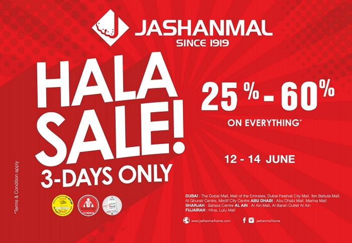 Jashanmal 3 days only Hala Sale! - Dubaisavers