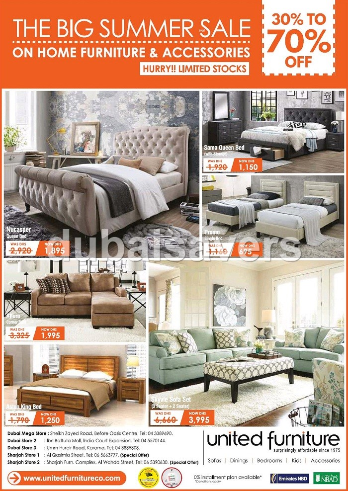 United Furniture The Big Summer sale - Dubaisavers